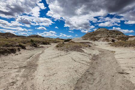 The Badlands of Albert in Canada