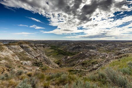 The Badlands of Albert in Canada