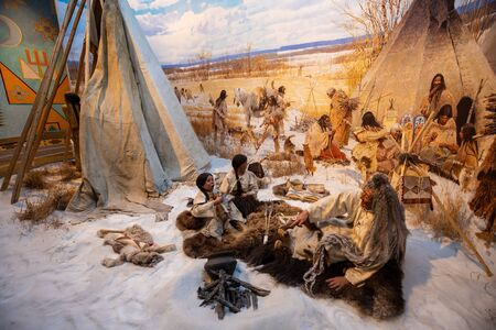 Native people of the first nations in Canada