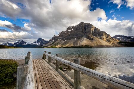 Lake Bow at the Icefield Parkway in Alberta Canada