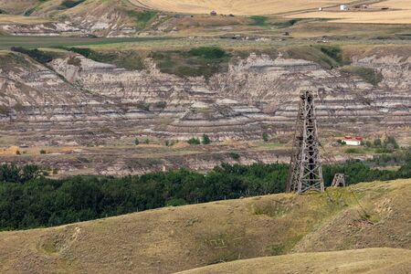 Oil drilling and pumping industry in Alberta Canada
