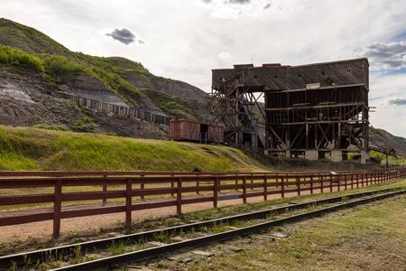 Old Coal Mine at Drumheller in Alberta Canada Stok Fotoğraf - 130128532