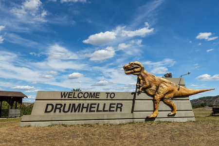 The T-Rex Dinosaur of Drumheller at Alberta Canada, June 13, 2019