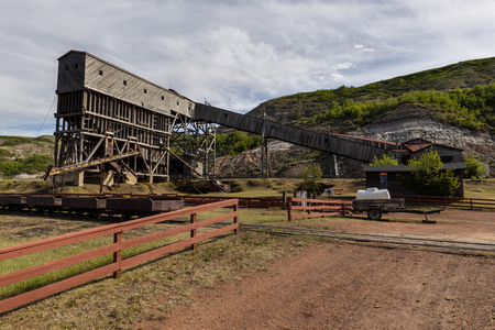 Old Coal Mine at Drumheller in Alberta Canada