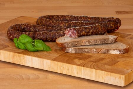 Delicious homemade smoked sausages from Germany