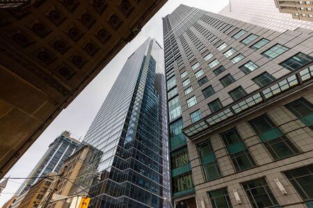 De stad en skyline van Toronto in Canada, 30 mei 2019 Stockfoto