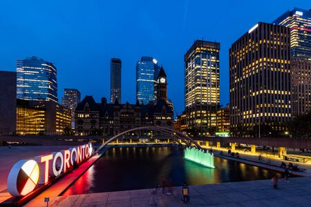 The City and Skyline of Toronto in Canada, May 31, 2019