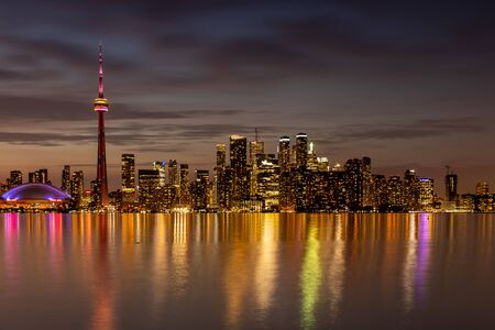 The City and Skyline of Toronto in Canada, May 30, 2019 Stock Photo