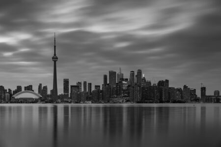 The City and Skyline of Toronto in Canada, May 30, 2019