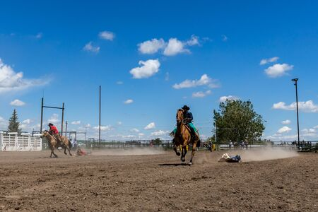 Rodeo Bronco Riding in Pincher Creek Canada