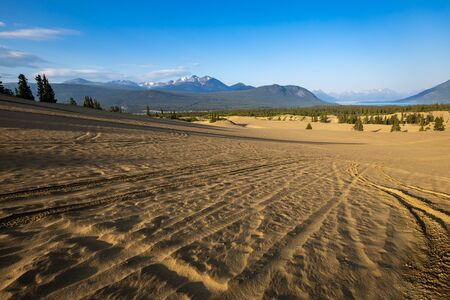 The smallest desert of the world at Carcross in Canada