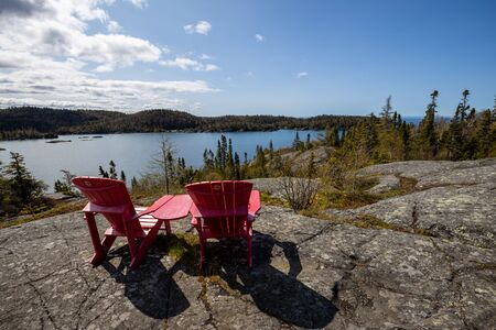 Lake and Landscape of Pukaskwa National Park in Canada Zdjęcie Seryjne