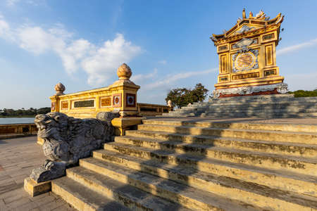 Historic Temple in the ancient City of Hue in Vietnam