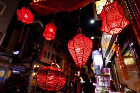 A chinese lantern in the city