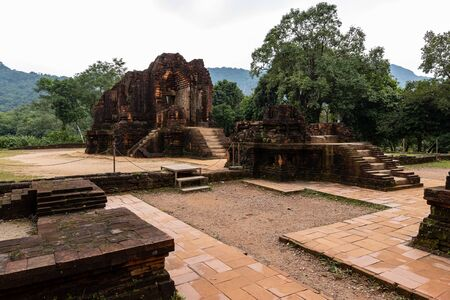 The Temple Ruins of My Son in Vietnam Stock Photo