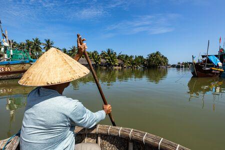 Tour at the water palm village of Hoi An in Vietnam Reklamní fotografie