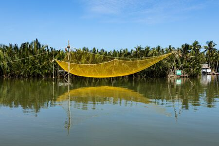 Fishing net at the Palm tree Village of Hoi An in Vietnam