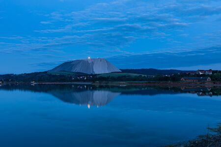 Mountain of potash salt mine in Germany