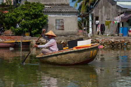Traditional Basket Boat Tour at Hoi An in Vietnam