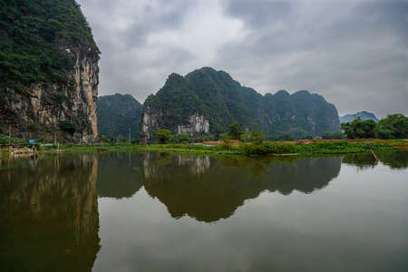 The Landscape of Ninh Binh with the Caves of Tam Coc and Trang An