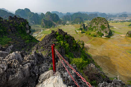 The Landscape of Ninh Binh at Tam Coc and Hang Mua in Vietnam