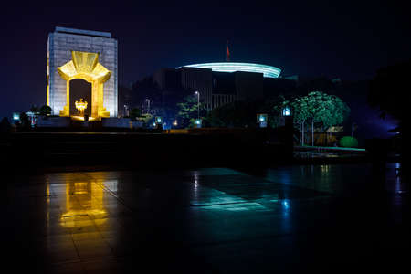 The Ho Chi Minh monument of Hanoi in Vietnam Stock Photo