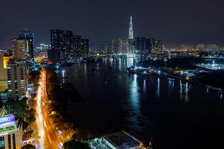 The skyline of Ho Chi Minh City Saigon in Vietnam