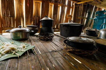 Household equipment of a traditional farmhouse in Vietnam
