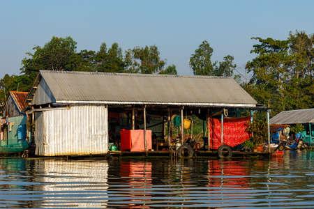 Fish Farm at the Mekong Delta in Vietnam