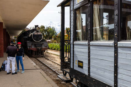 The historic steam train and wagons of Dalat in Vietnam