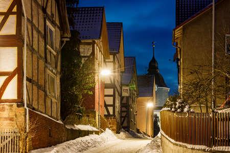 Half timbered houses of Herleshausen in Germany
