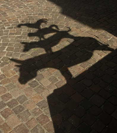 Ancient monument to the Bremen musicians photo