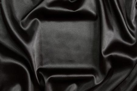 Black silk textile background Stock Photo - 9328516