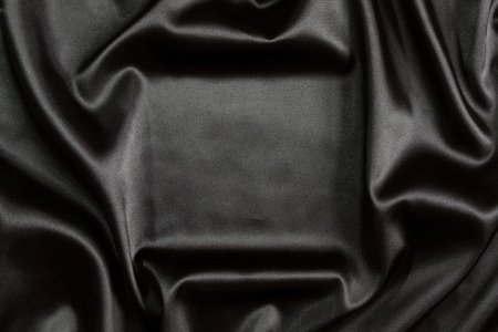 black silk: Black silk textile background