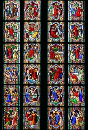 Stained-glass window photo