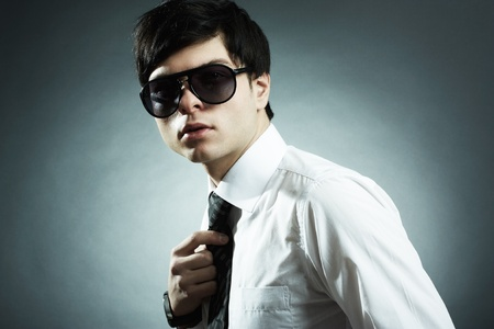 ess: Fashion portrait of the young businessman Stock Photo