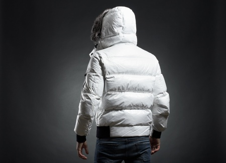 Portrait of the young man in a white jacket Stock Photo - 9380274