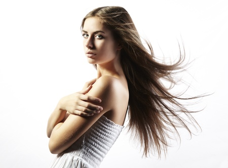 nude female body model: Photo of beautiful woman with magnificent hair