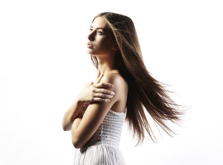 junge nackte m�dchen: Foto der sch�nen Frau mit herrlichem Haar