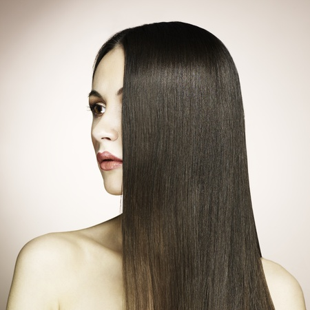 Fashion photo of beautiful woman with magnificent hair  Stock Photo - 11927873