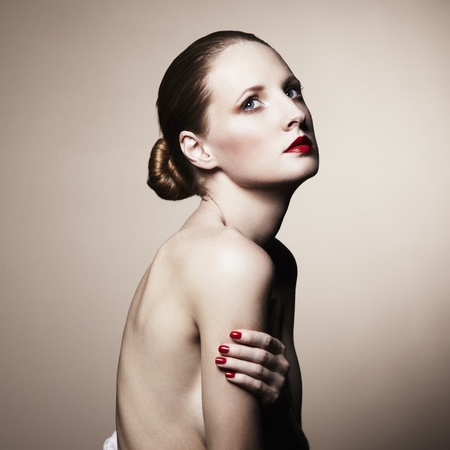 Fashion portrait of nude elegant woman  Studio photo Stock Photo - 13045009