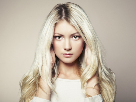 a beautiful woman with magnificent hair