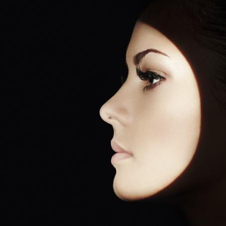 Beautiful woman face. Perfect makeup. Beauty fashion Stock Photo - 19025535