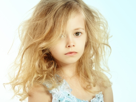 Portrait of pretty little girl. Fashion photo Stock fotó