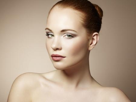 Beautiful young woman with bright make-up  Beauty fashion Stock Photo