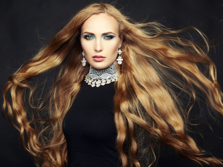 magnificent: Photo of beautiful woman with magnificent hair Stock Photo