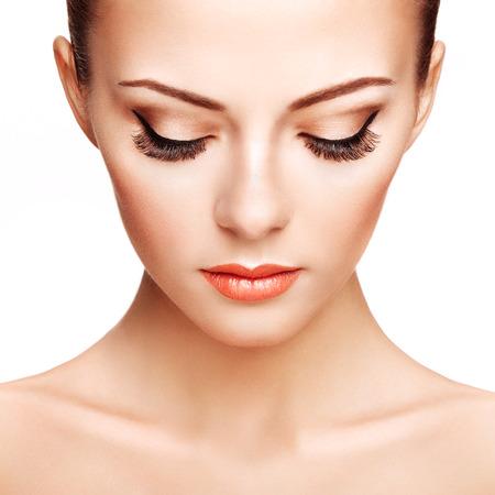 美しい女性の顔 写真素材