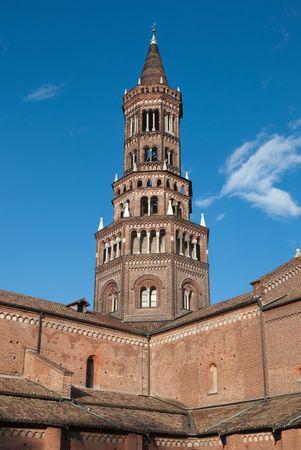 abbazia: The Church Tower of Abbey of Chiaravalle Milanese, Italy