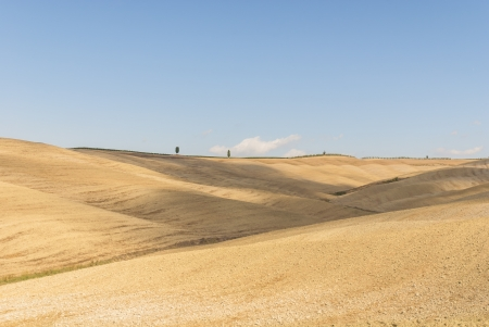 characterised: The Val d%uFFFDOrcia, or Valdorcia, a region of Tuscany, central Italy  It is characterised by gentle, carefully cultivated hills