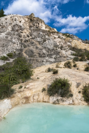 valdorcia: Natural thermal baths in the Natural Park of the Mills  Bagno Vignoni, Tuscany, Italy